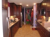 new kitchen from laundry room - 2010